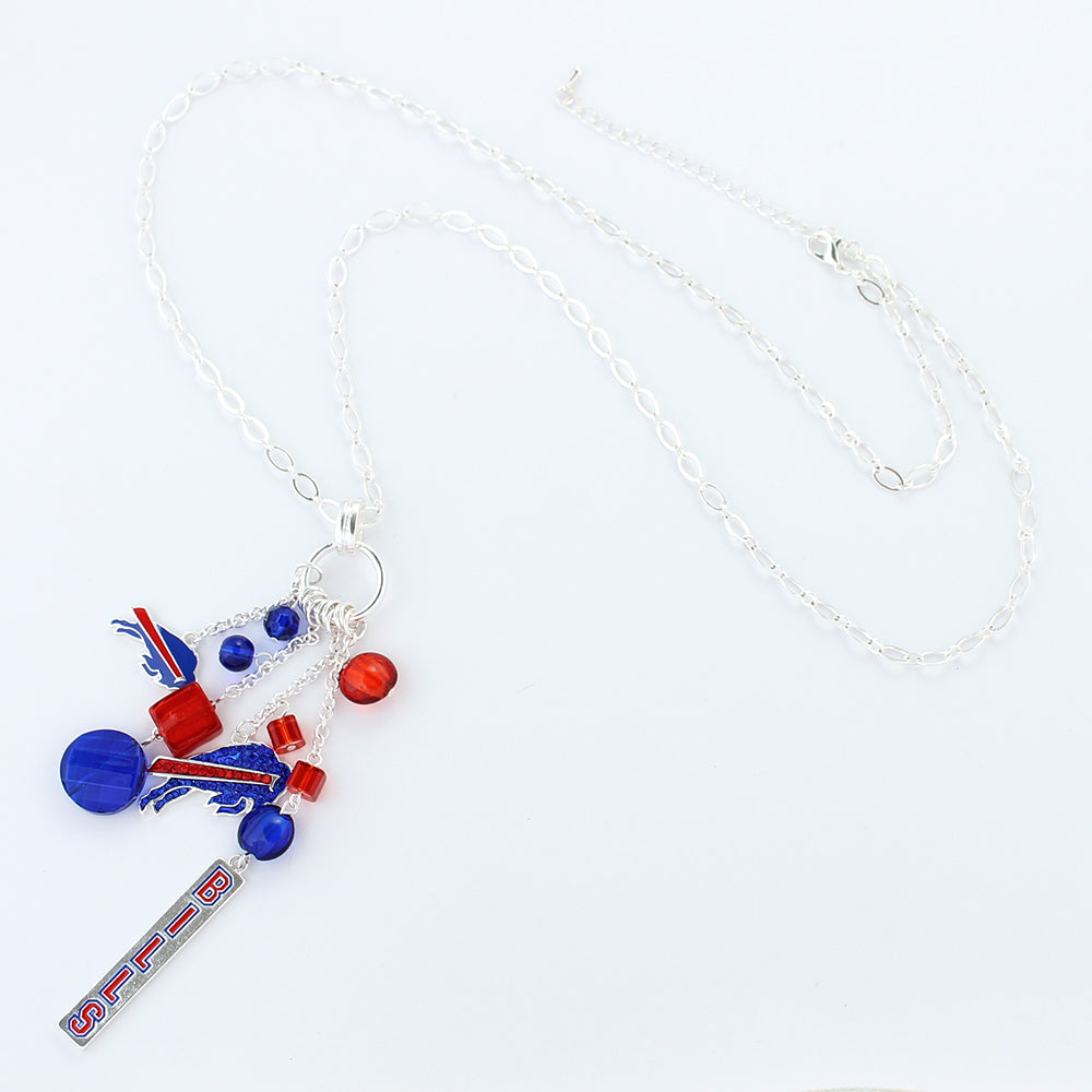 Buffalo Bills Cluster Necklace