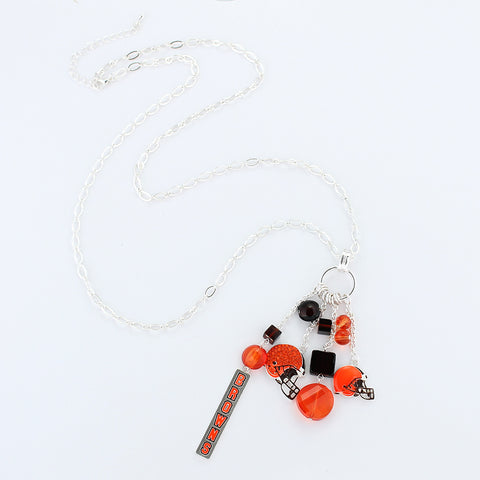 Cleveland Browns Cluster Necklace