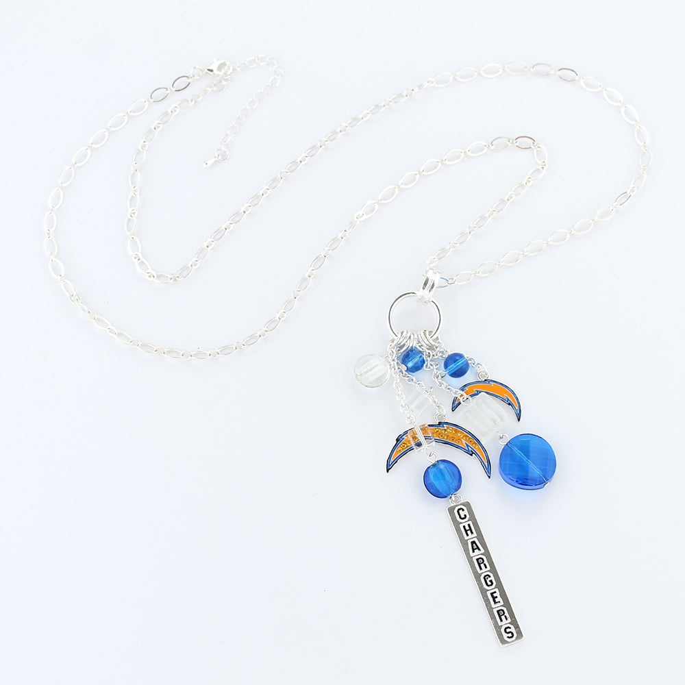 San Diego Chargers Cluster Necklace