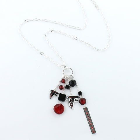 Atlanta Falcons Cluster Necklace