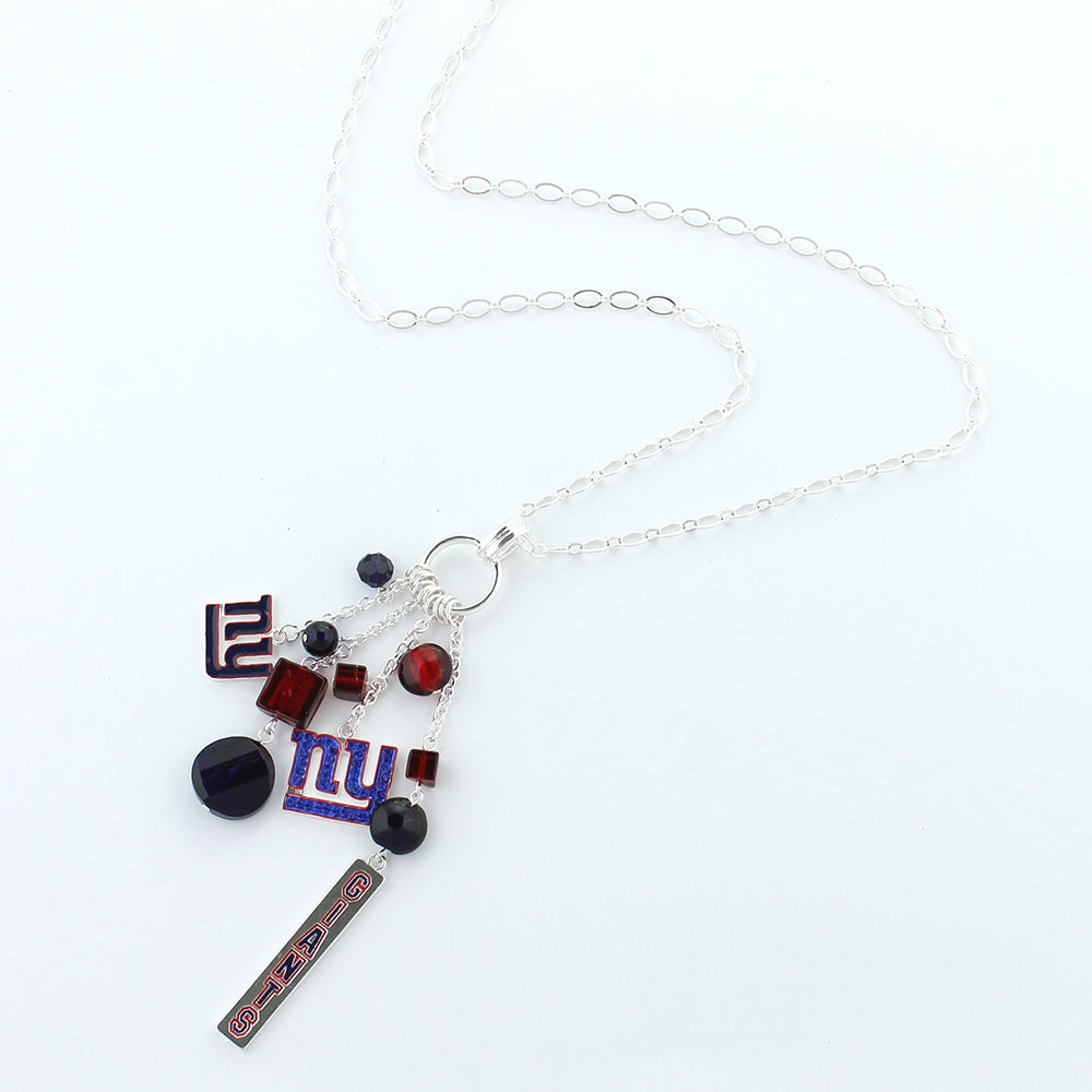New York Giants Cluster Necklace