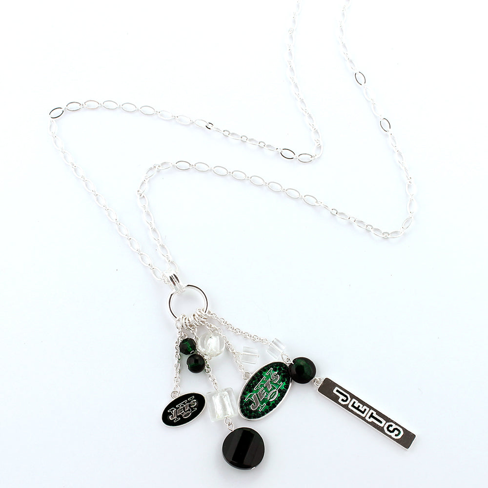 New York Jets Cluster Necklace