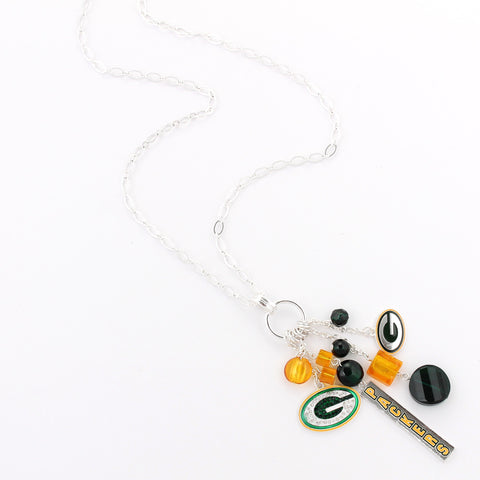 Green Bay Packers Cluster Necklace