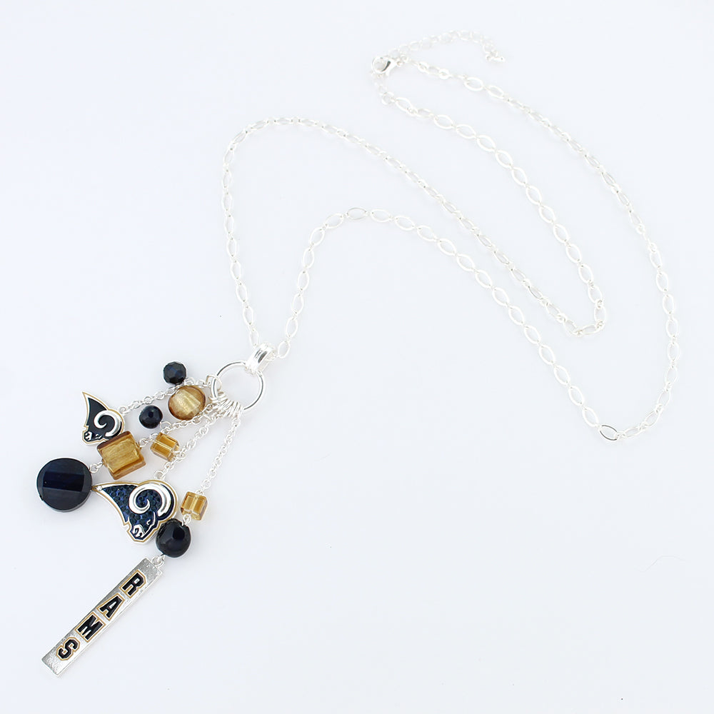 Los Angeles Rams Cluster Necklace