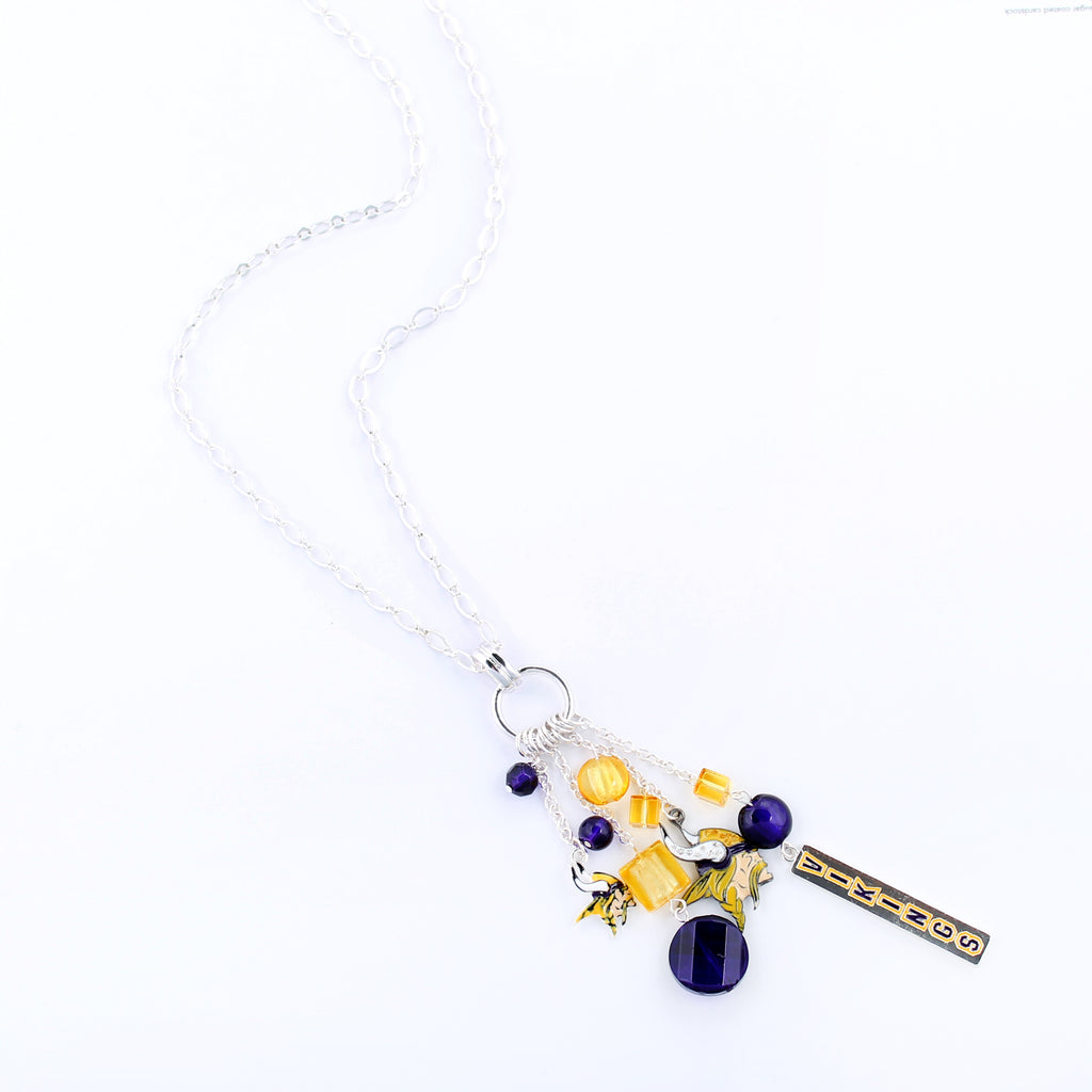 Minnesota Vikings Cluster Necklace