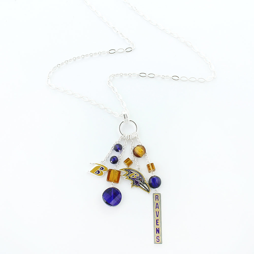 Baltimore Ravens Cluster Necklace