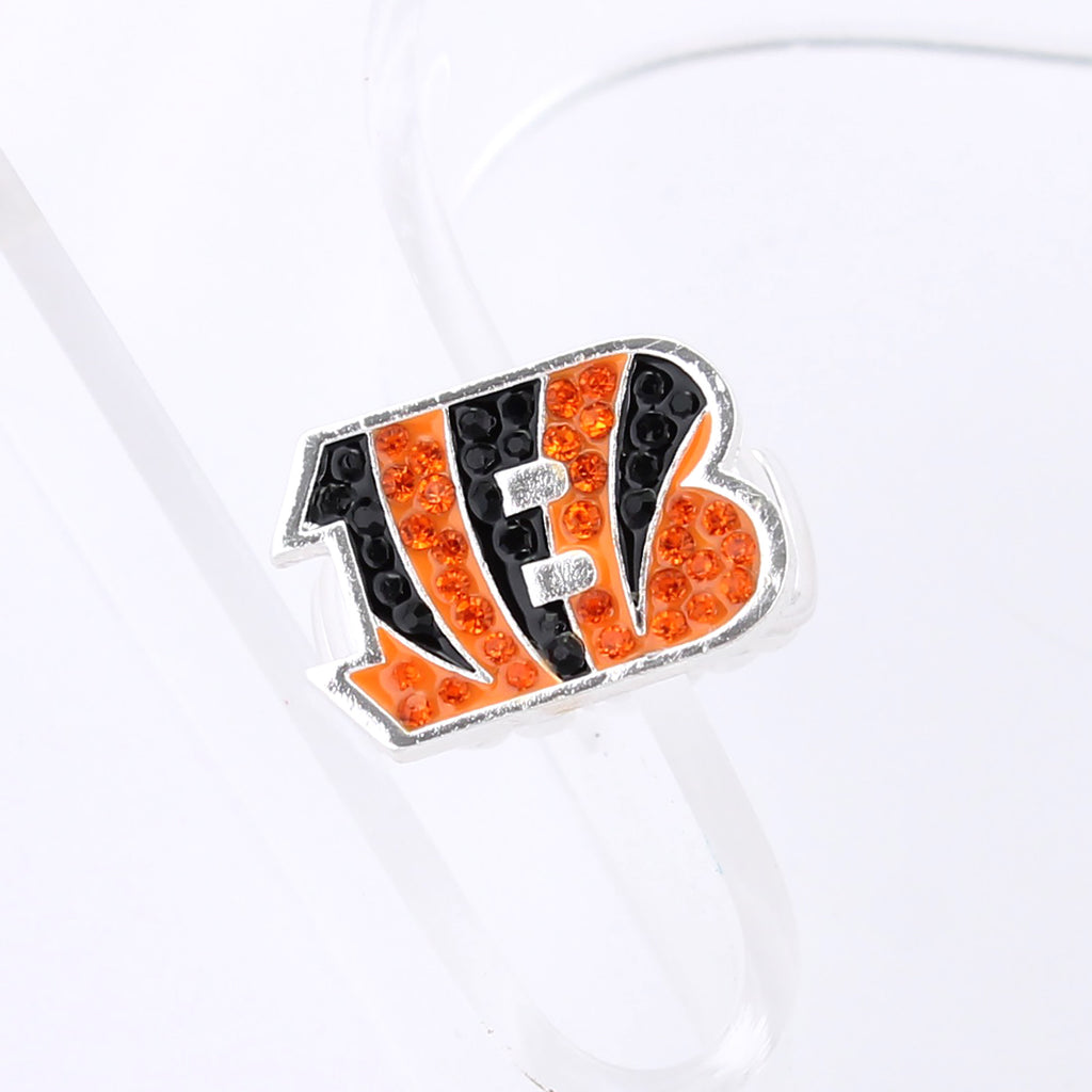 Cincinnati Bengals Crystal Logo Stretch Ring
