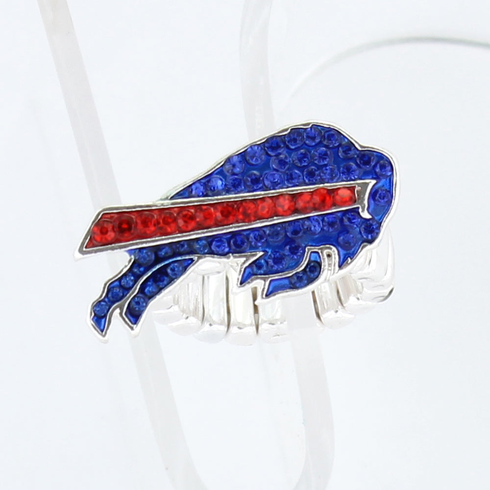 Buffalo Bills Crystal Logo Stretch Ring