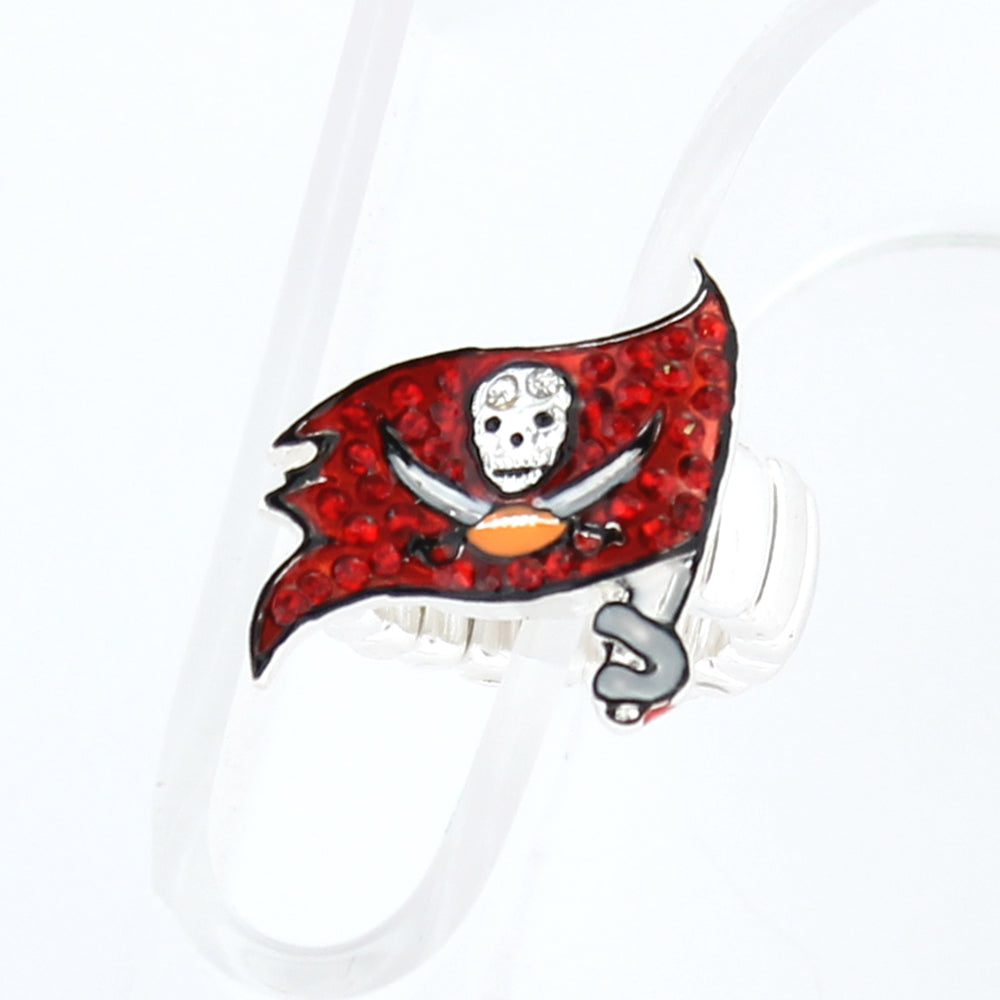 Tampa Bay Buccaneers Crystal Logo Stretch Ring