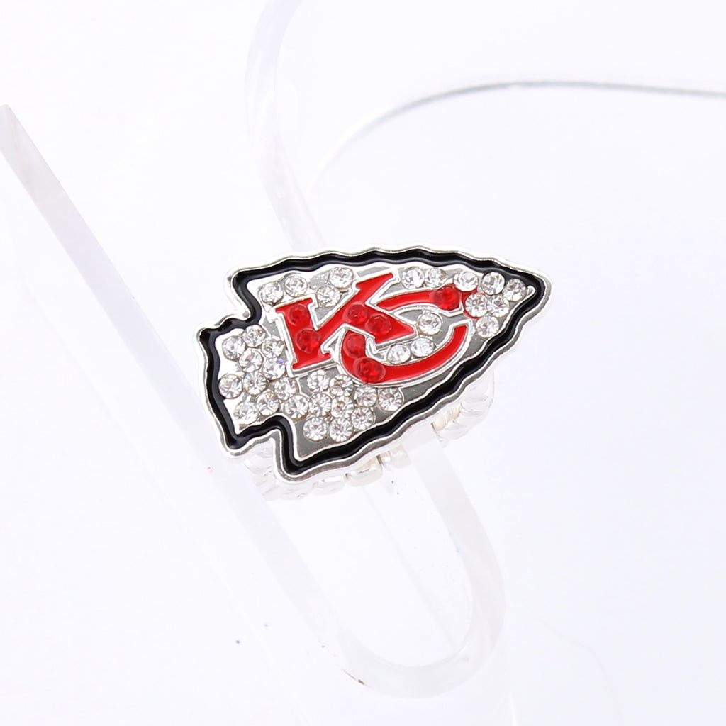 Kansas City Chiefs Crystal Logo Stretch Ring