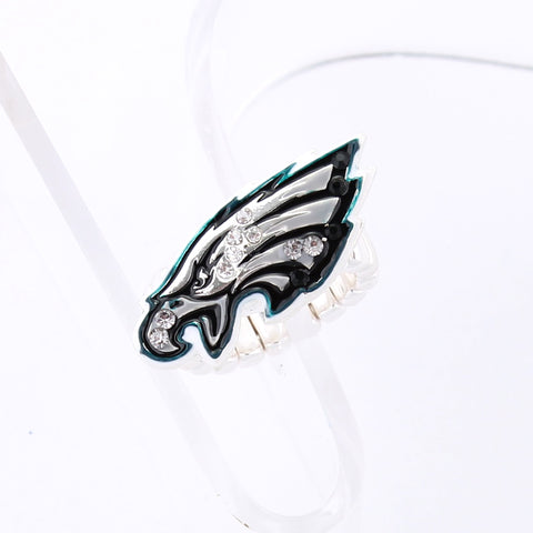 Philadelphia Eagles Crystal Logo Stretch Ring