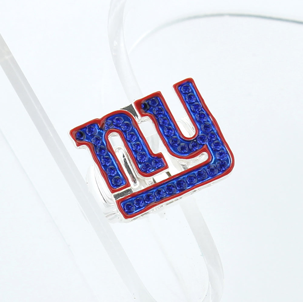 New York Giants Crystal Logo Stretch Ring