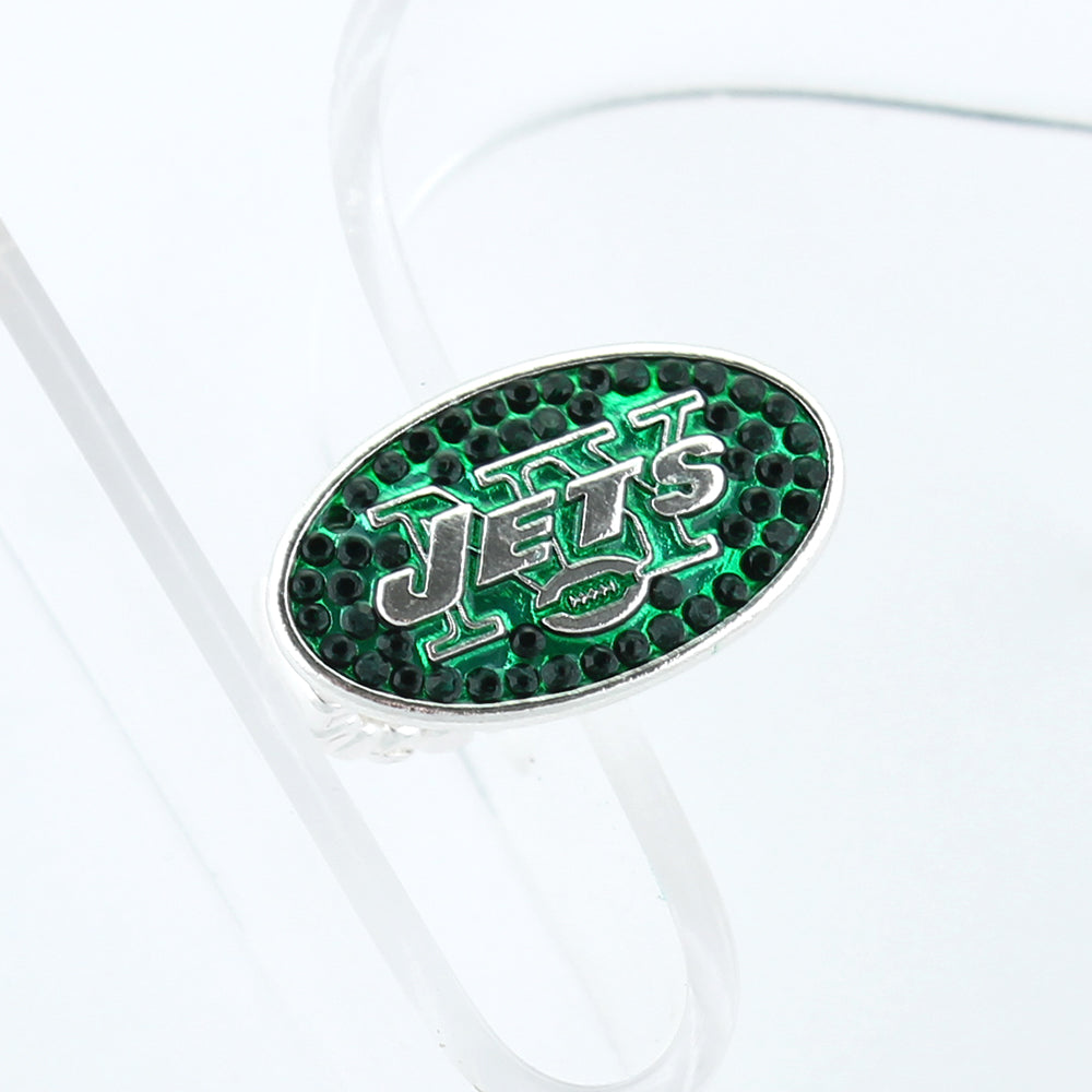 New York Jets Crystal Logo Stretch Ring
