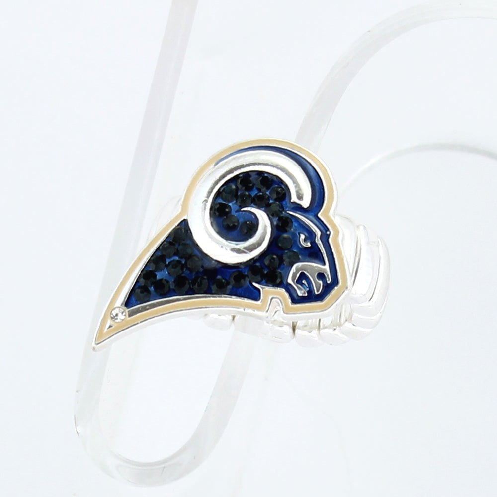 Los Angeles Rams Crystal Logo Stretch Ring
