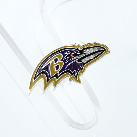 Baltimore Ravens Crystal Logo Stretch Ring