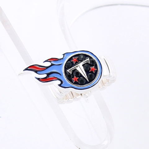 Tennessee Titans Crystal Logo Stretch Ring