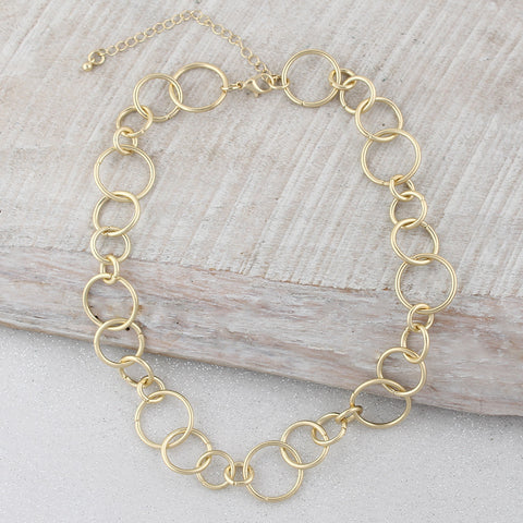 16 inch Gold Link Chain Necklace