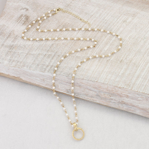 Gold & Pearl Chain 30