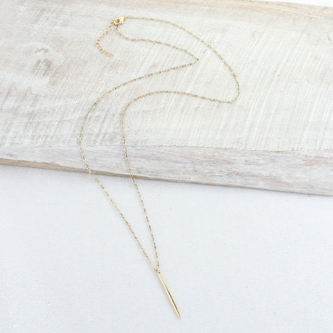 Gold Chain with Spike Necklace