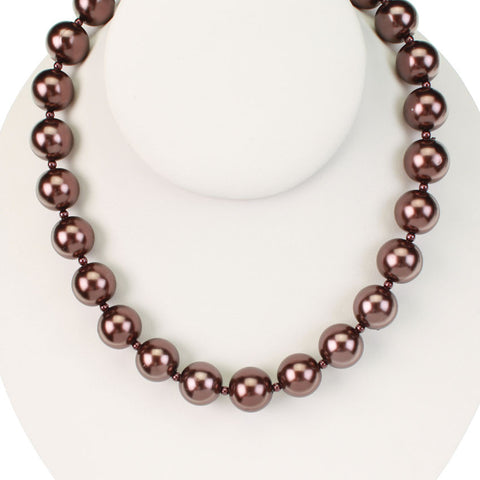 Seasons Jewelry Chocolate Brown 16