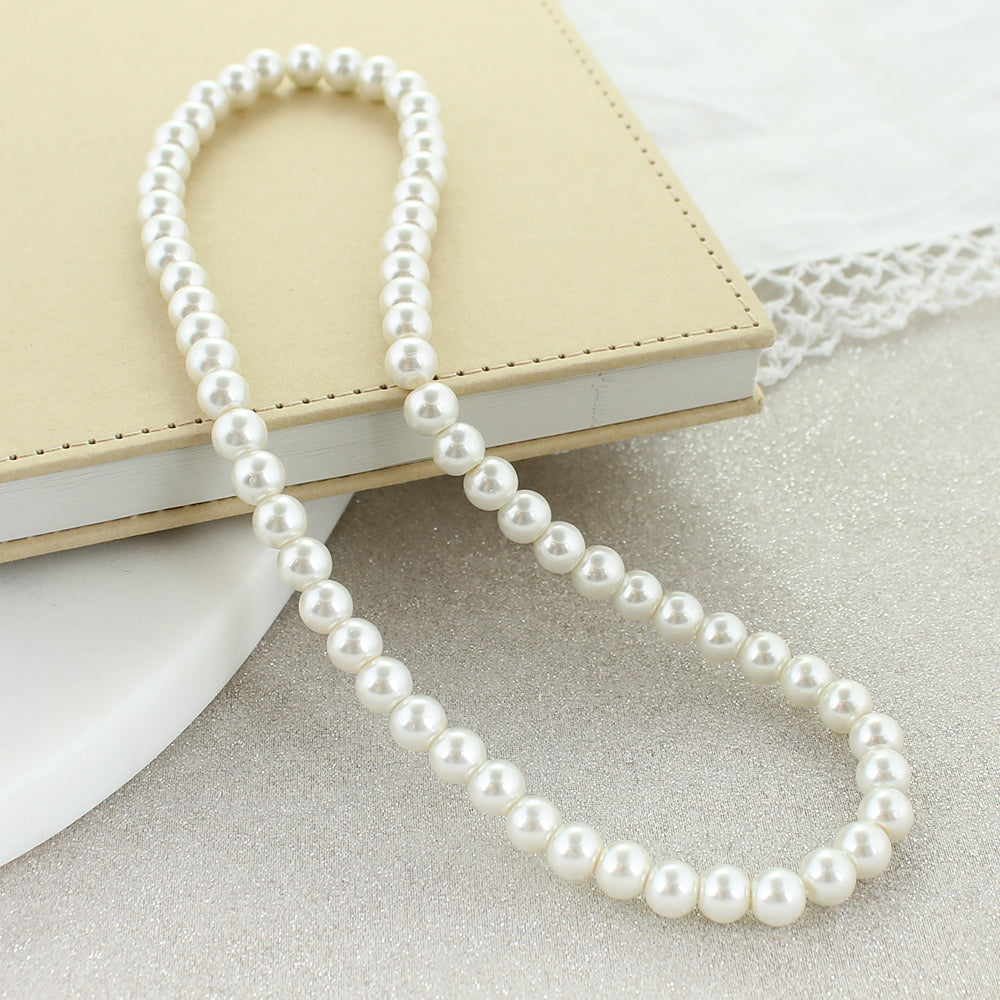 "18"" Pearl Stretch Necklace"
