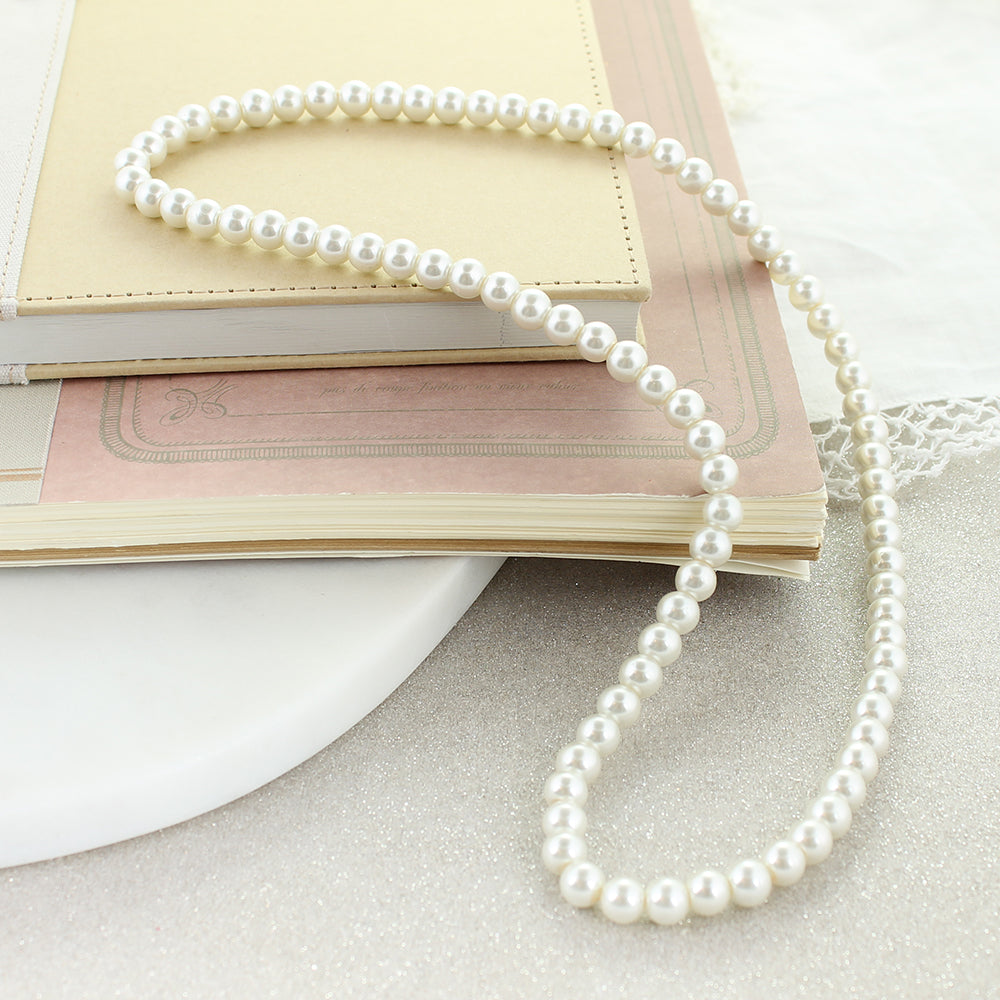 "24"" Pearl Stretch Necklace"
