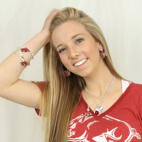 Arkansas Logo Bangle Bracelets