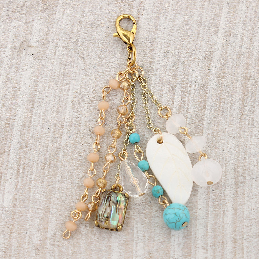 Pink & Blue Clip-It Cluster Pendant