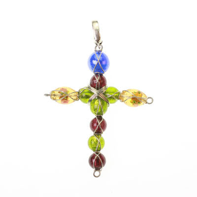 Seasons Jewelry Beaded Cross Pendant