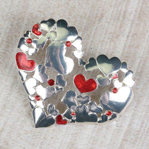 Seasons Jewelry Multi-Heart Pin/Pendant