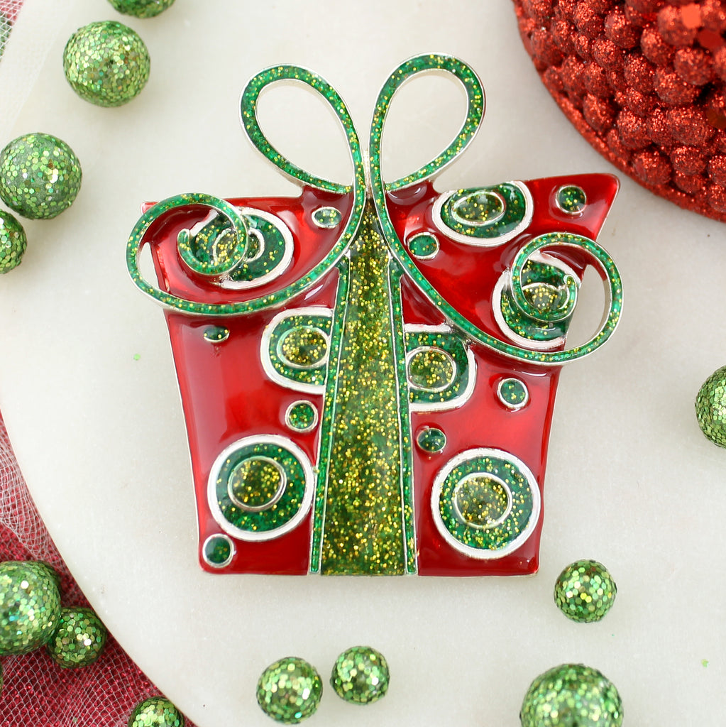 Christmas Package Pin/Pendant