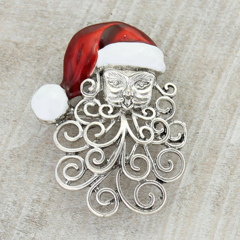 Curly Beard Santa Pin/Pendant