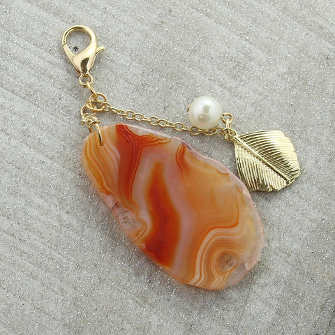 Agate & Pearl Cluster Pendant