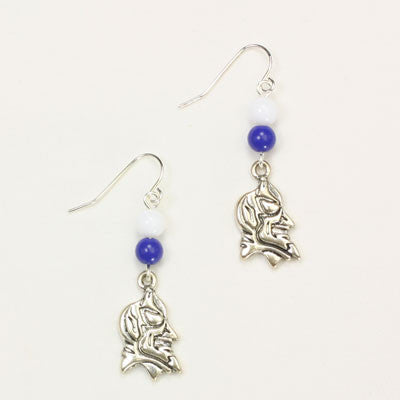 Seasons Jewelry Duke Wire Logo Earring