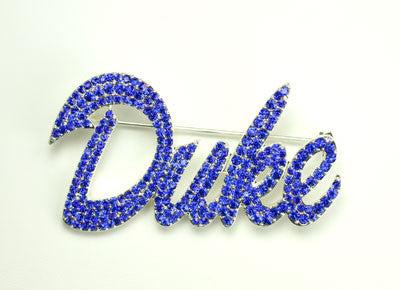 Seasons Jewelry Duke Crystal Logo Pin
