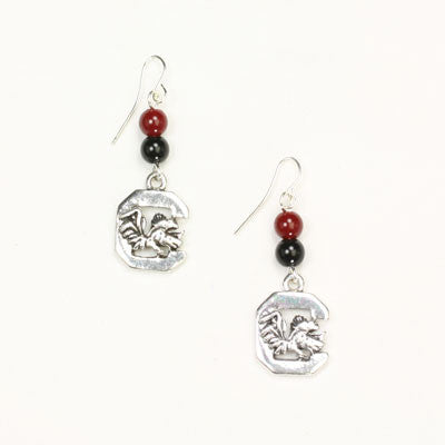 Seasons Jewelry South Carolina Wire Logo Earring