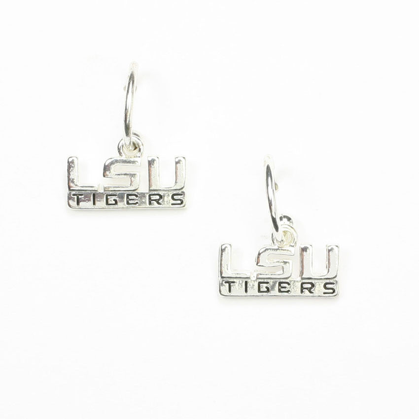 Seasons Jewelry Lsu Logo Hoop Earring