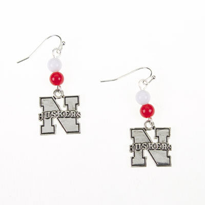 Seasons Jewelry Nebraska Wire Logo Earring