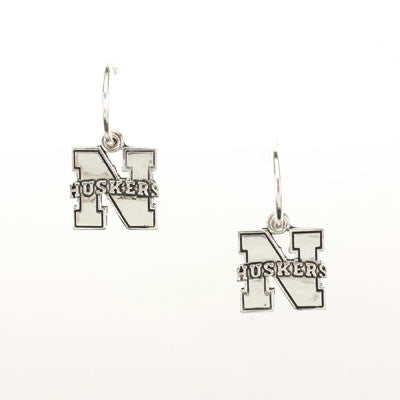 Seasons Jewelry Nebraska Logo Hoop Earring