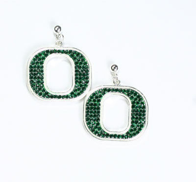 Seasons Jewelry Oregon Crystal Logo Earring