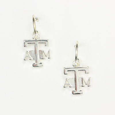 Seasons Jewelry Texas A&M Logo Hoop Earring