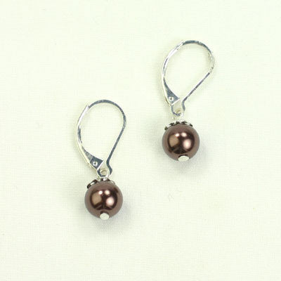 Small Chocolate Pearl Earrings