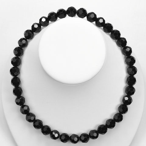 Seasons Jewelry Black Crystal Necklace