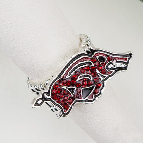 Arkansas Crystal Logo Stretch Ring