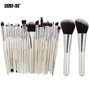 22 Piece Precision Makeup Brush Set