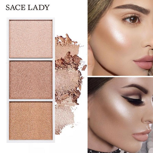 3 Shades Highlighter Palette