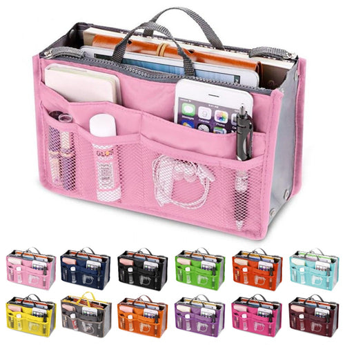 Nylon Travel Makeup Organizer Handbag