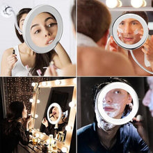 Load image into Gallery viewer, LED Light Flexible Vanity Makeup Mirror