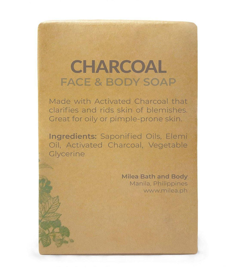 Charcoal Clarifying & Detoxifying Soap Soaps Milea All Organics