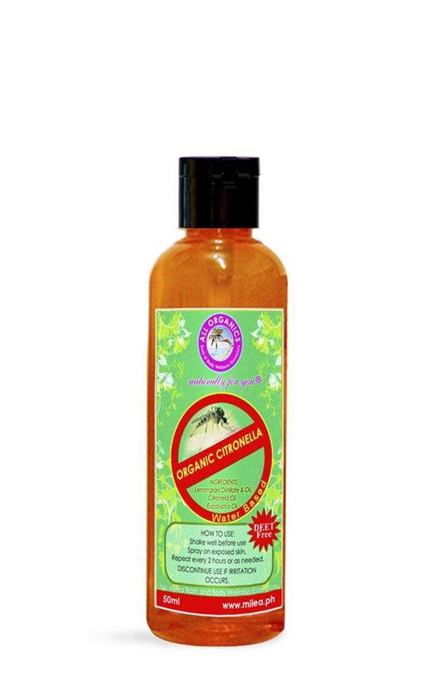 Citronella Mosquito Repellent Oil - Milea All Organics - Philippines